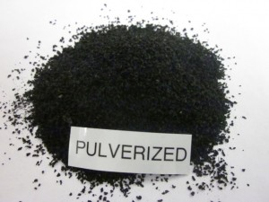 Pulverized Tire Rubber Crumb - Black